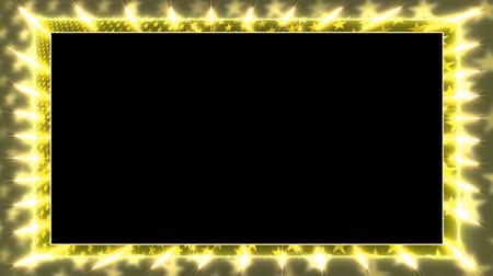 garniture : Yellow animation frame with a rotating star Alpha Channel Looped video