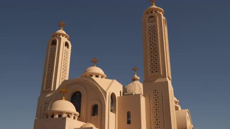 iconography : Coptic Orthodox Church of Sharm el-Sheikh. Stock Footage
