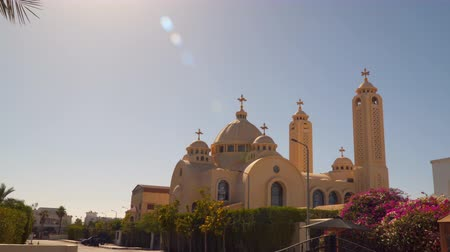 iconography : Coptic Christian Church in Egypt. 4K UHD video footage. Stock Footage