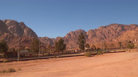 difficults : The road that passes through the deserted Sinai mountains. Egypt