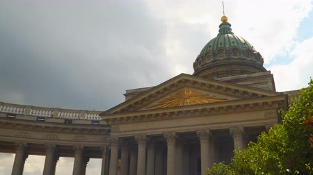 kazanskiy : Dome and columns of the Kazan Cathedral in St. Petersburg. Petersburg Russia