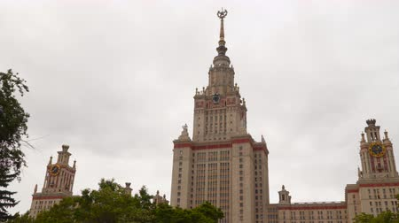 stalinist : The building of Moscow State University. Russia