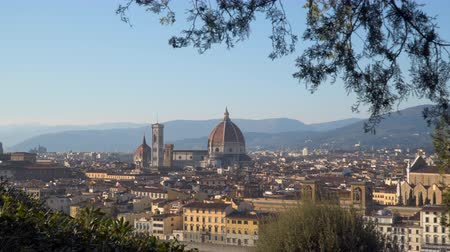 florencja : View of the center of Florence. View from Michelangelo plaza