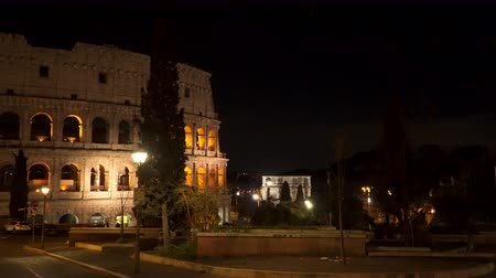 flavian : Rome Italy Colosseum at night