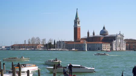 személyszállító hajó : Venice, Italy - March 23, 2018: San Giorgio Maggiore is one of the islands of Venice