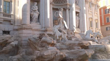 bernini : Trevi Fountain in Rome - the most beautiful and most amazing fountain of the capital of sunny Italy Stock Footage