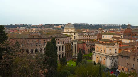 imparator : Rome city with ancient Theater of Marcellus.