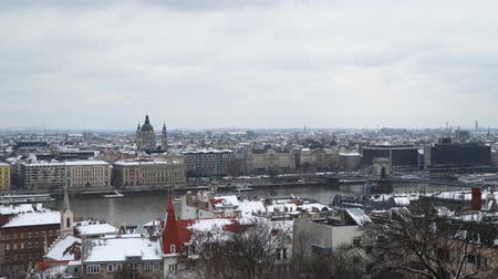 st stephen : Budapest. Hungary You can see the embankment of the Danube and the Basilica of St. Istvan.