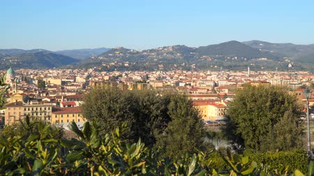 vecchio : Florence Tuscany Italy. View from Piazzale Michelangelo Stock Footage