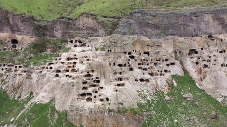 gürcü : Cave city Vardzia Aerial view. Vardzia is a cave monastery site in southern Georgia