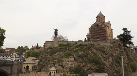 gürcü : Tbilisi, Georgia - May 2, 2019: The XIII century is one of the most popular sights of Tbilisi.