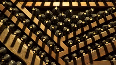 pince : Bottles with old wine. Wine cellar.