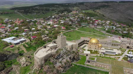 gürcü : Rabati Castle panorama. Rabat fortress - a large fortress in the city of Akhaltsikhe, Georgia. Aerial view