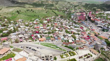 architectural heritage : Aerial view. Akhaltsikhe is a small city in Georgias southwestern region.