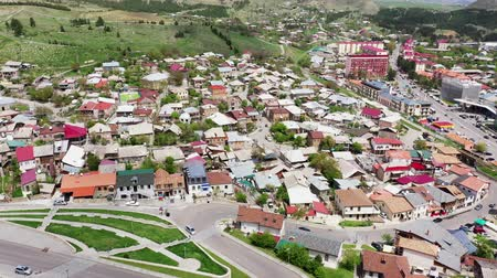 adminisztratív : Akhaltsikhe is a city in the south of Georgia. The administrative center of the region is Samtskhe-Javakheti and the Akhaltsikhe municipality. Aerial view Stock mozgókép
