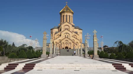 Tbilisi, Georgia - May 8, 2019: Holy Trinity Cathedral of Tbilisi