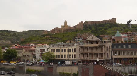 Tbilisi, Georgia - May 8, 2019: Narikala fortress is located on Mount Mtatsminda in Tbilisi