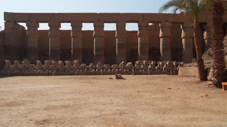 hieroglifa : Karnak Temple in Luxor - a whole complex of temples dedicated to the gods of Ancient Egypt.