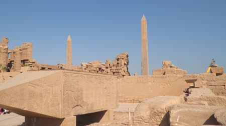 hieroglifa : Obelisks at the Karnak Temple in Luxor, Egypt
