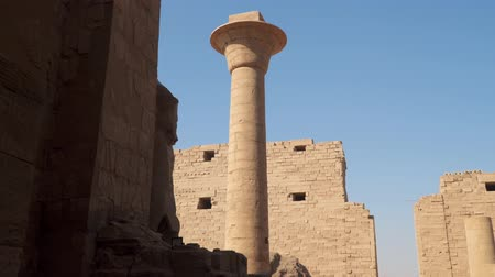 Architectural Column at Karnak Temple in Luxor, Egypt