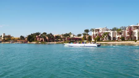 El Gouna, Egypt - January 17, 2020: El Gouna is a tourist resort on the Red Sea, located 22 km north of Hurghada International Airport, part of the Egyptian Riviera.