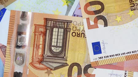 abundância : flying Euro banknotes Stock Footage
