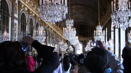 historical building : 1548 Palace of Versailles in France.mov Stock Footage