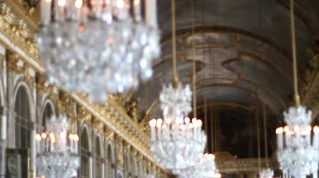 re : 1550 Palazzo di Versailles Lampadari in France.mov Filmati Stock