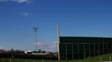 executar : 1353 Baseball Stadium with Blue Skys  .mov Stock Footage