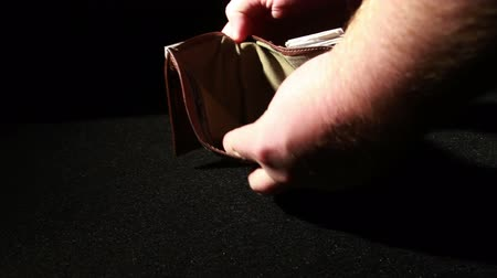 pieniądze : 1374 Leather Wallet Empty with No Money being Thrown Down.mov Wideo