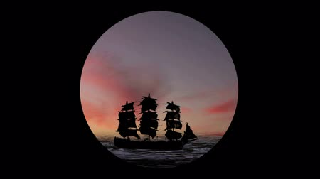 bola de fogo : 1219 Pirate Sailboat at Sunset Through Teloscope.mov