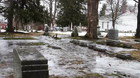 почему : 1113 Grave Yard Under Ice next to Old Church.mov
