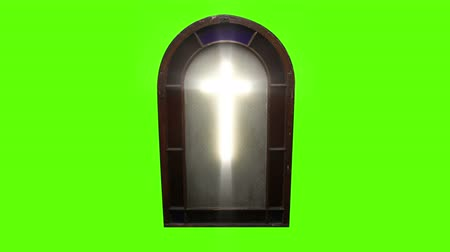 vatikan : 1143 Church Stain Glass Cross with Green Screen_1.mov