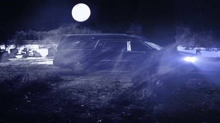 почему : 1164 Hearse Funeral Vehicle at Grave Yard_1.mov
