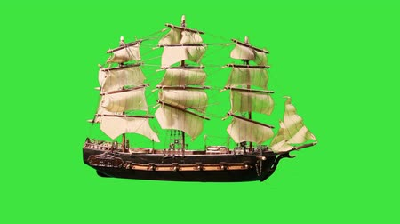 pirat : Pirate Sailboat with Green Screen Wideo
