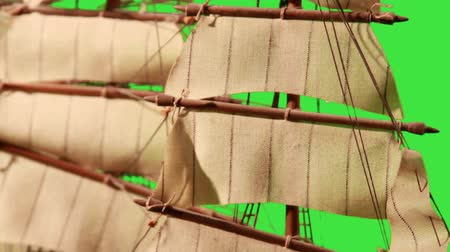 bola de fogo : Pirate Sailboat with Green Screen Stock Footage
