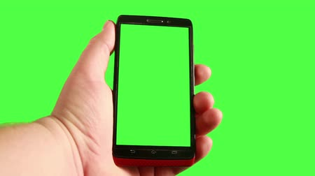 on the phone : Smart Phone with Green Screen