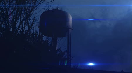 bomba : 0823 Water Tower at Night with Heavy Fog, HD.mov