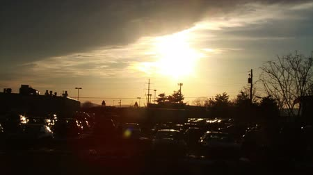 gramado : 0829 Sunset at Junk Yard .mov Stock Footage