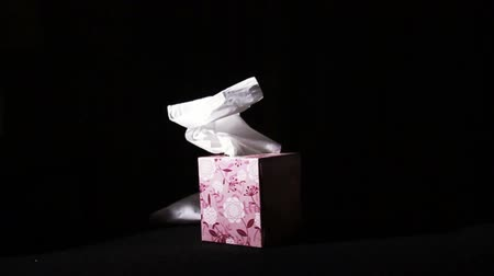 хорошее здоровье : Falling Tissues on Box in Slow Motion, Being Sick