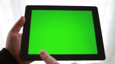 pedleri : Using Tablet Device with Green Screen