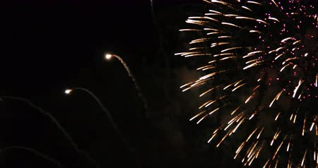 1936 Fireworks, 4K.mov Stok Video