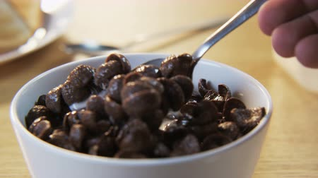 flocos de milho : Chocolate Flakes on a Spoon