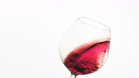 wine red : Red Wine in a Glass Stock Footage