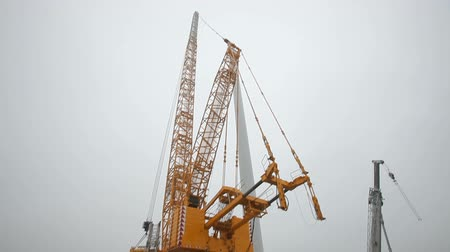 engineering : Building Cranes. Long shot Stock Footage