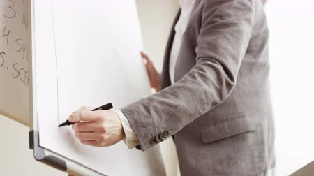 conferencista : Businessman Drawing a Chart on a Board