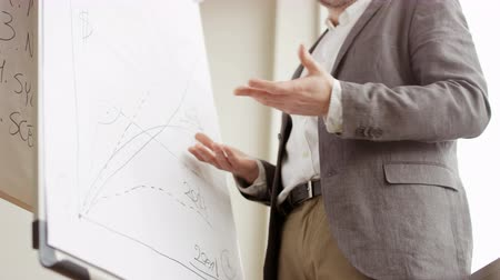 Man Pointing at a Board and Explaining Something