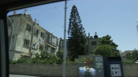 View From the Car Moving Through a Mediterranean City Stock Footage