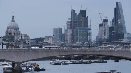 Cars and Pedestrians Moving Through the Waterloo Bridge