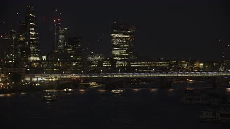 westminster : Double-Decker Bus Moving Through the Blackfriars Bridge Stock Footage